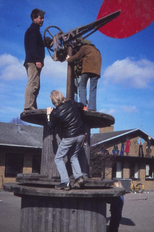 1973 forberedelser til vindmølle JOHS