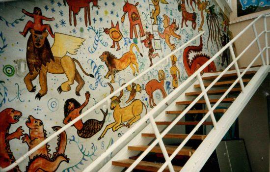 1993 Rød gruppe & Anette Vægmaleri